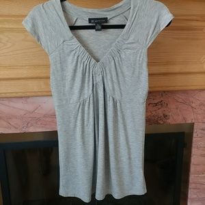 INC petite sleeveless top gray